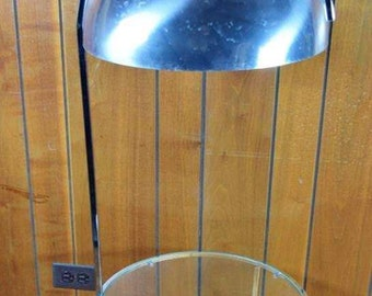 Vintage MCM 1970's Chrome Dome Floor Lamp with Table Panton Era Atomic Mod Space Age