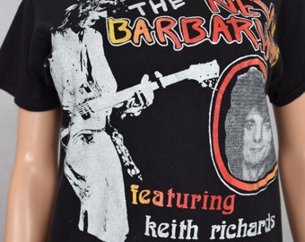 RARE Vintage 1979 Original The New Barbarians Keith Richards Ron Wood Rolling Stones T Shirt