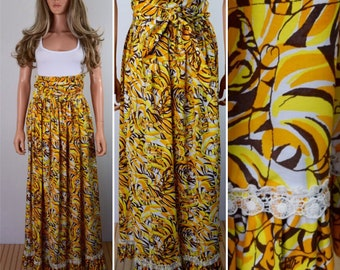 Vintage 1960's The LILLY PULITZER TiGeR CaT Patterned Beach Cover Up HiPPiE BoHo Couture Skirt