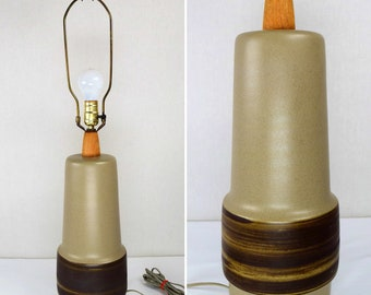 "Vintage Working ~ MCM 1960's Marshall Studios Pottery By Gordan & Jane Martz ~ Large 31"" Table Lamp"