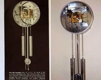 "Vintage 1970's MCM George Nelson Howard Miller Arthur Umanoff Wall Clock ""The Executive"""