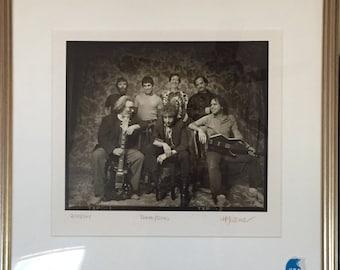Vintage 1987 Bob Dylan & The Grateful Dead Jerry Garcia Herb Greene 218/265 Signed Photo Poster