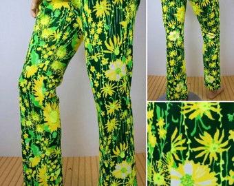 Vintage 1970's LiLLY PuLitZeR Men's MoD HiPPiE PsYcHeDeLiC Flower GoLf HiPPiE Pants Size 32