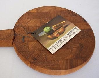 Nos Vintage MCM DANSK Jens Quistgaard Danish Modern Teak Tray Bar Board Citrus Knife