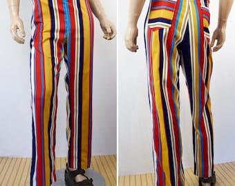 Vintage 1960's MoD BeAtNik Striped Men's JANTZEN Beach Pants HiPPiE Surfer HiPsTeR Size 38