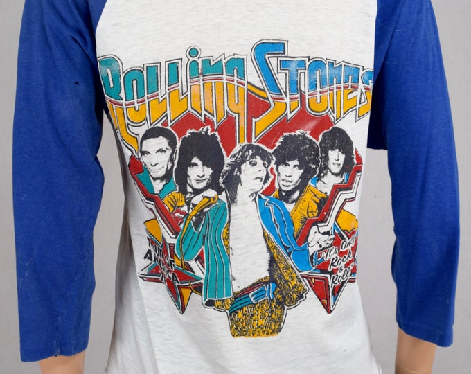 Vintage 1978 Original The Rolling Stones It's Only Rock N Roll American Tour Concert T-Shirt