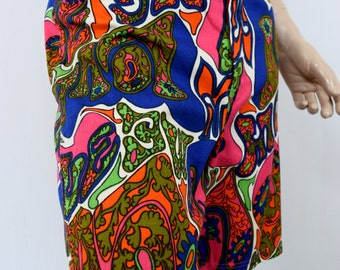 "Vintage 1960's Men's ""LOVE ME"" UlTra MoD PsYcHeDeLiC SuMMeR of LoVe HiPPiE Surfer Swim Trunks Short Size L 36"