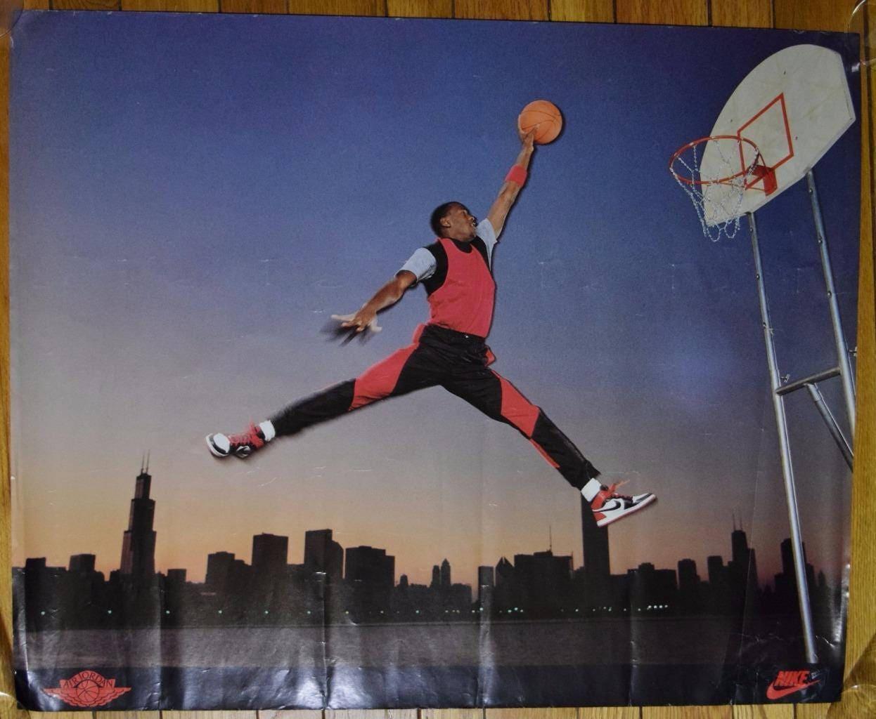 buy popular 020b4 61873 Vintage RARE 1985 Original JUMPMAN Michael Air Jordan 1 NIKE ...