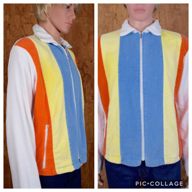 84b9075a3cac Vintage 1970 s Men s JCPenny s Striped TeRRY CLoTH