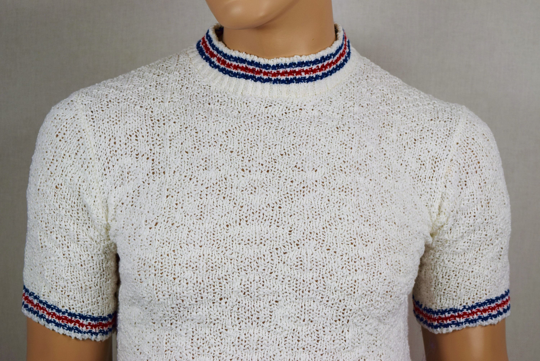 Vintage cotton mock neck sweater