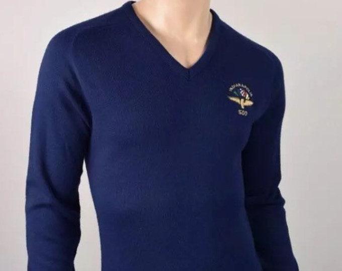 Vintage 1980's INDY Indianapolis 500 Speedway Racing Logo 7 Sweater shirt Men's M L