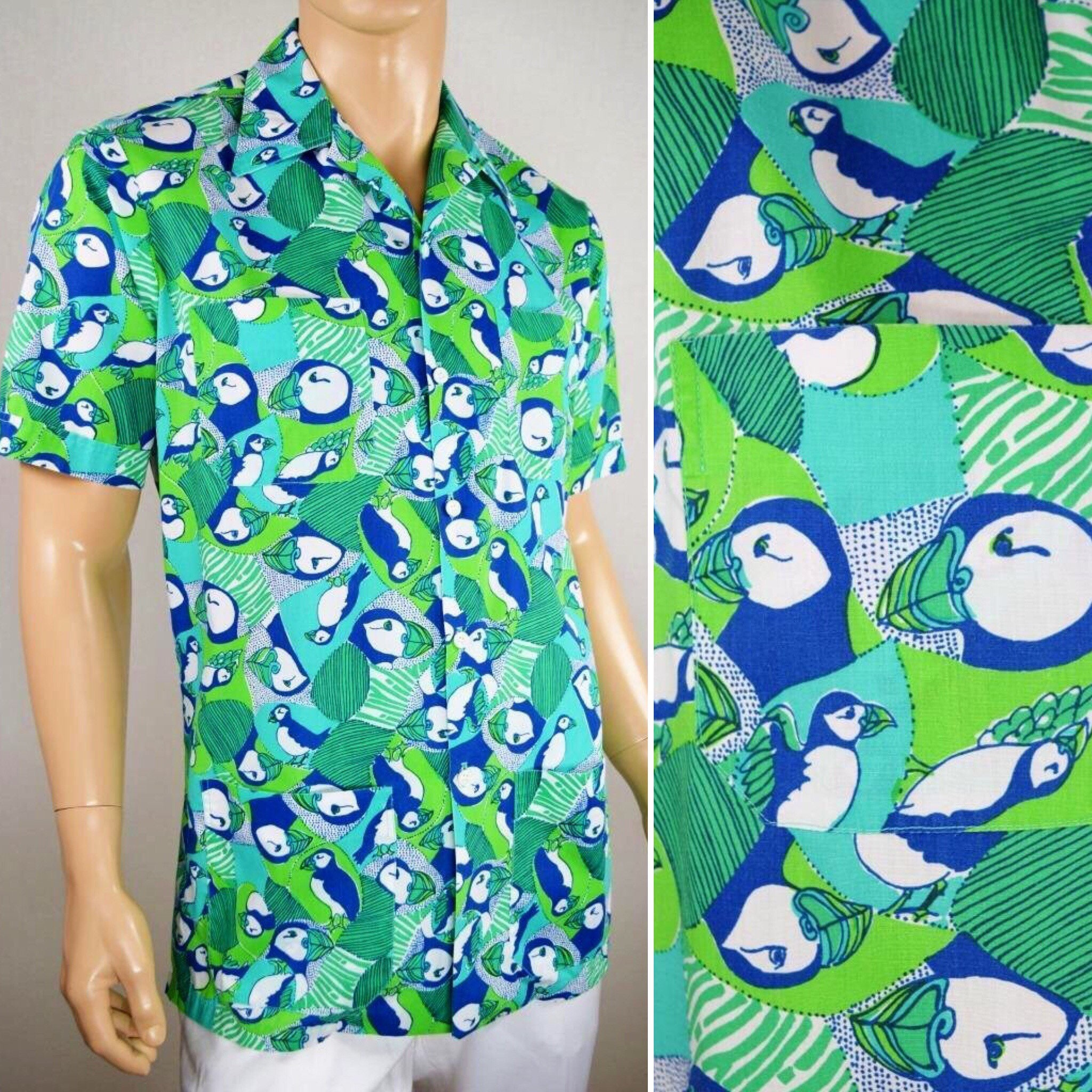 f0c67ff732016d Vintage 1960's Men's LiLLY PuLitZeR Mens Stuff MoD Puffin Loop ...