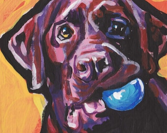 31cc5181 chocolate lab Labrador Retriever Dog art print pop art 13x19 inch