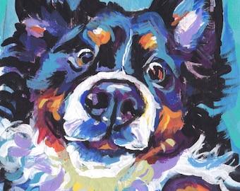 Bernese Mountain Dog print of modern pop art painting 13x19