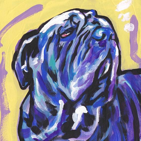 CAIRN TERRIER modern Dog art PRINT pop art bright colors 12x12