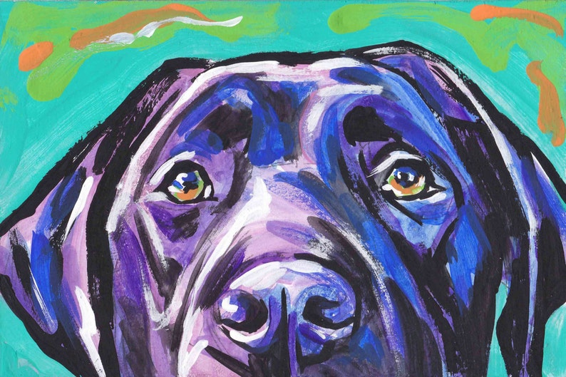 fc278d88 Labrador Retriever modern Dog art print black lab pop dog art | Etsy