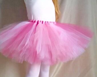 Pink and White Tutu Girls, Pink Tutu, White Tutu, sizes 6-14
