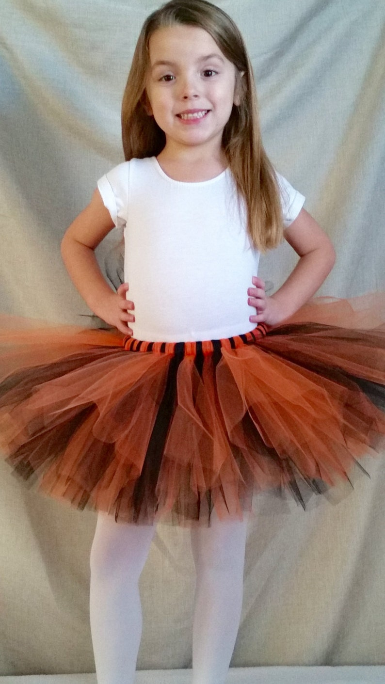 d90c34ed6c Black Orange Tutu Black Tutu Orange Tutu Tiger Tutu Animal | Etsy