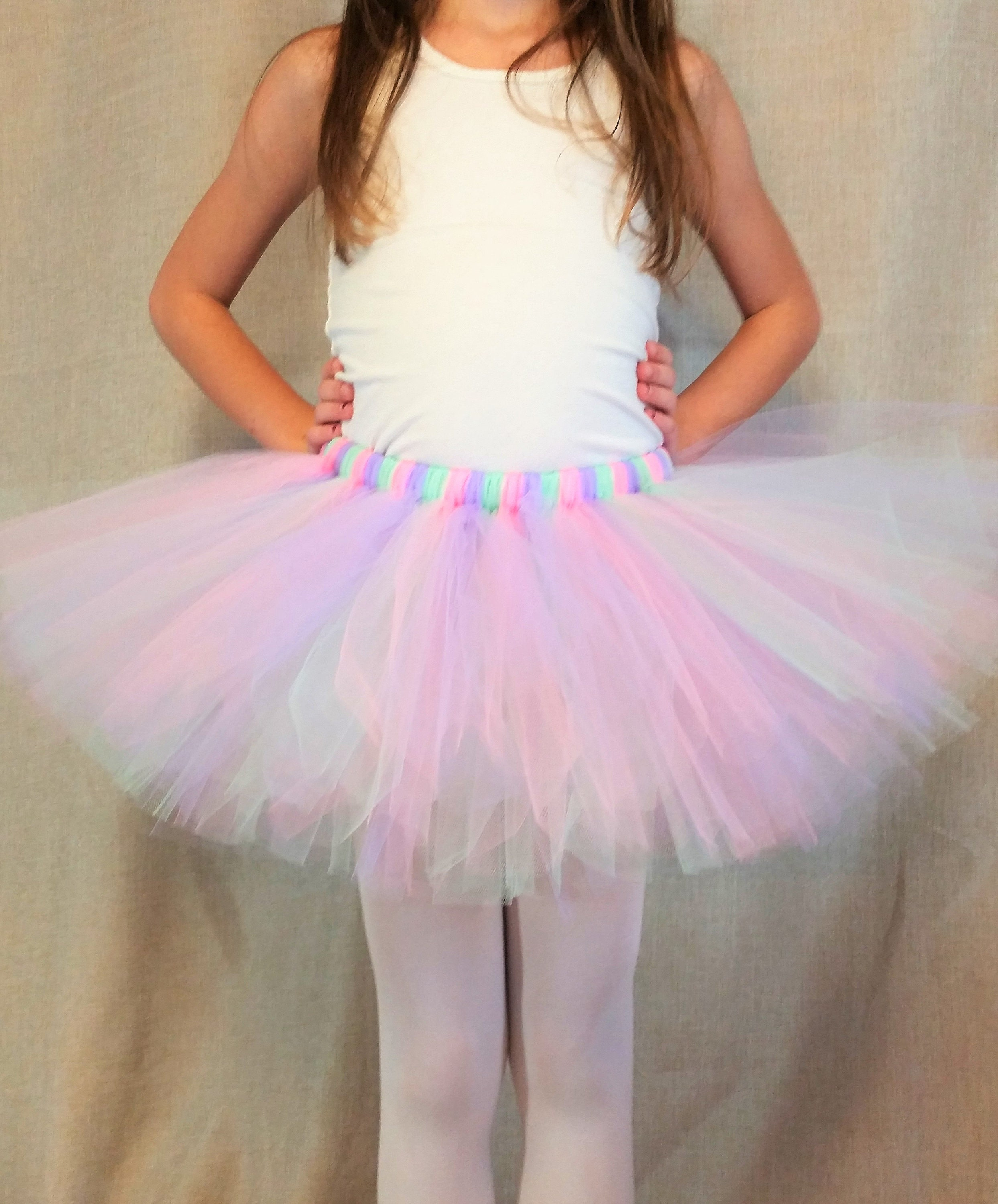 b73c856c6d Pink Lavender Mint Tutu Skirt, Multicolor Tutu, Halloween Costume Tutu,  Birthday Party Outfit, Photo Prop, Ballerina Tutu, Gift, Dress Up