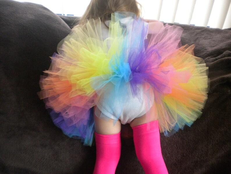 Newborn Photo Prop Multicolor 1st Birthday Outfit Infant Tutu Birthday Tutu Bright Rainbow Tutu Baby Tutu Rainbow Tutu Toddler Tutu