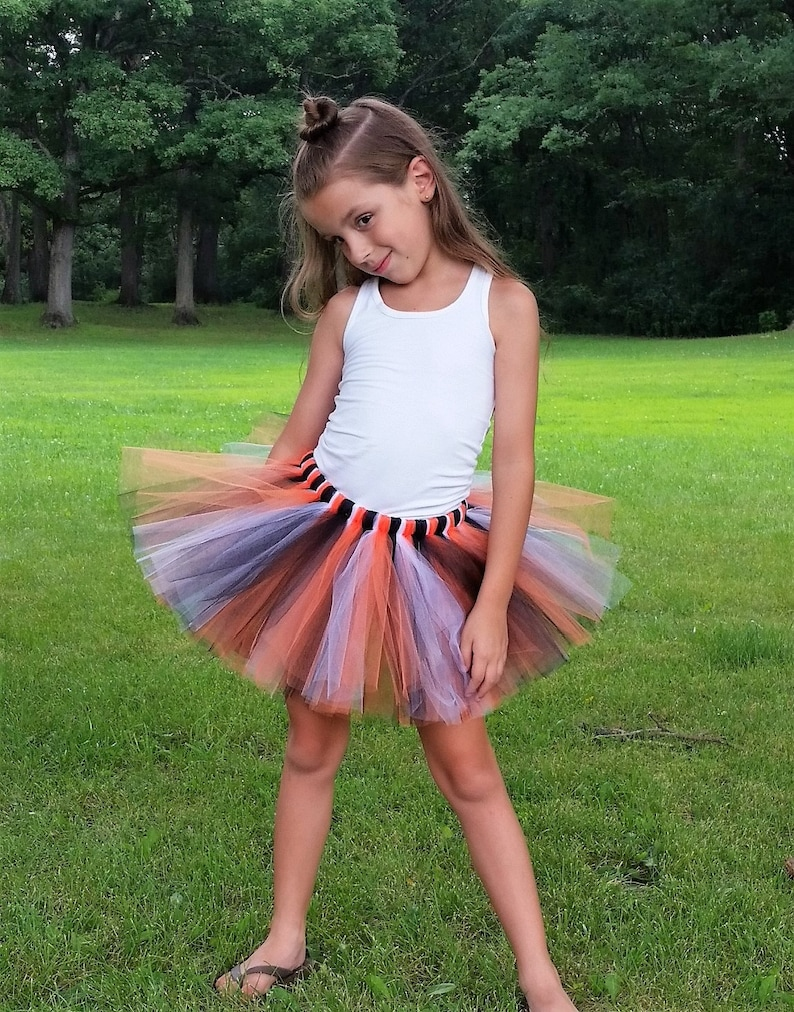 61da55318f Black Orange White Tutu Tiger Tutu Halloween Costume Baby | Etsy