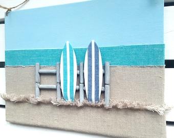 Surf Decor - Surfboard Decor - 3D Surfboard Wall Decor - Surfer Art - Surf board Sign - Surfer Decor - Beach Wall Decor - Beach Art
