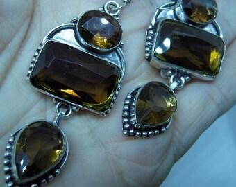Control Negative Energies by wearing - Honey Smokey Topaz Earrings