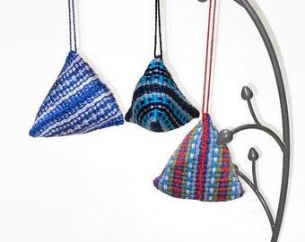 Set of 3 Handwoven Ornaments