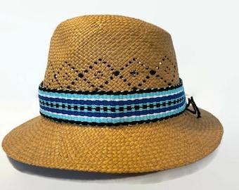 Striped Handwoven Hatband, Adjustable