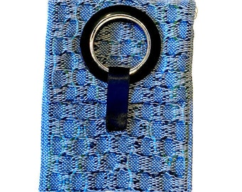 Phone charger storage and travel pouch - blue