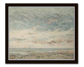 French Seascape Print, Giclee, Wall Art, Art, Print, Home Decor, Coastal Decor, Coastal Art, Seascape, Unframed
