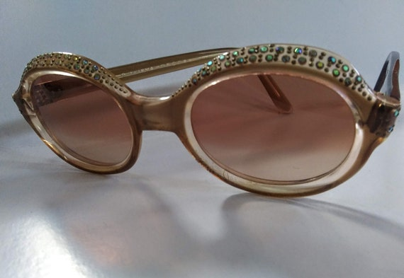Sparkly Rhinestone Vintage Sunglasses from 60's