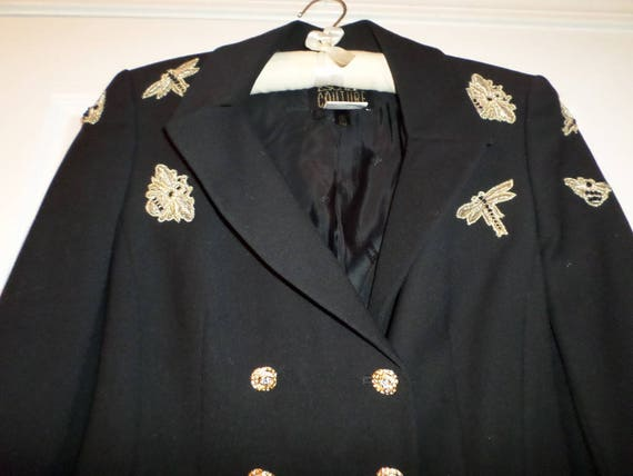 Escada Couture Jacket Virgin Wool Couture Jeweled