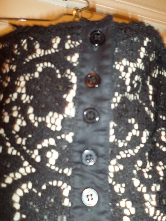Vintage Lace Bustier Top Black Button Up  Finley … - image 4