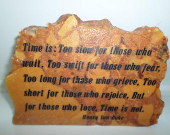 Vintage marble Plaque Writing poem Heavy Home Decor