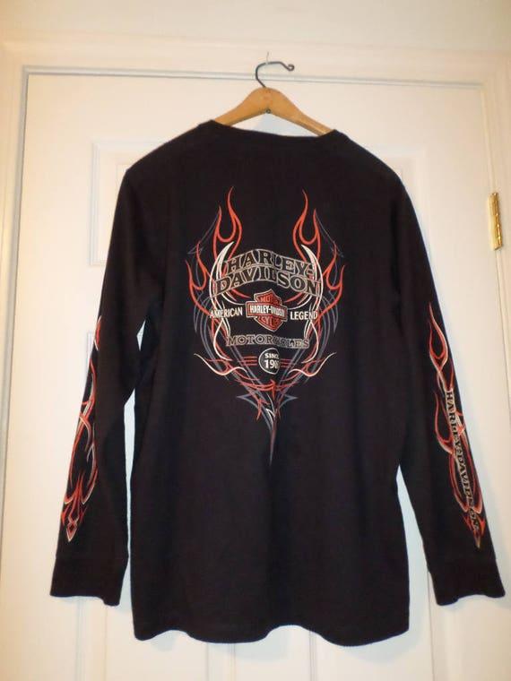 Harley-Davidson Men/'s Distressed Stamped Motorcycle Short Sleeve T-Shirt Black