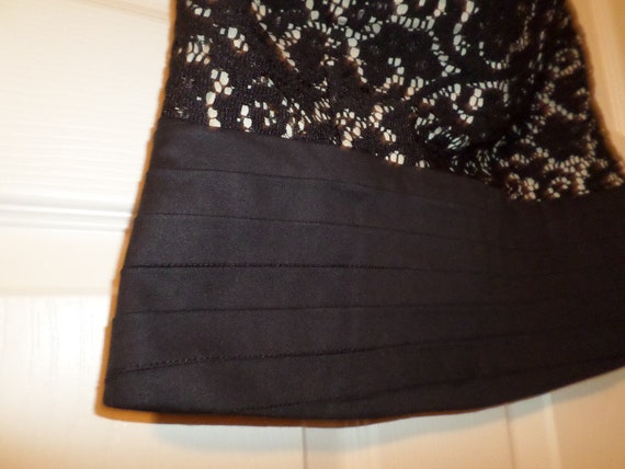 Vintage Lace Bustier Top Black Button Up  Finley … - image 5