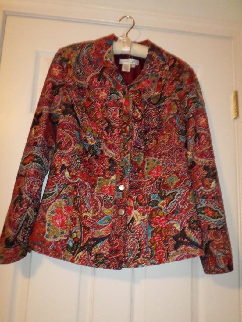 c0fcd8b05ff Vintage Coldwater Creek Jacket Light Jacket Small Coat | Etsy