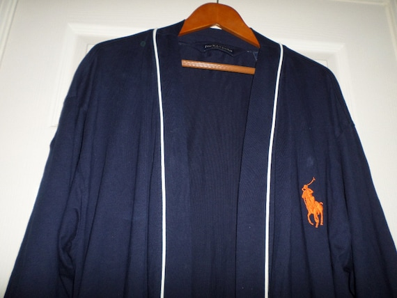 Vintage Polo Ralph Lauren Robe Blue Robe XL Long R