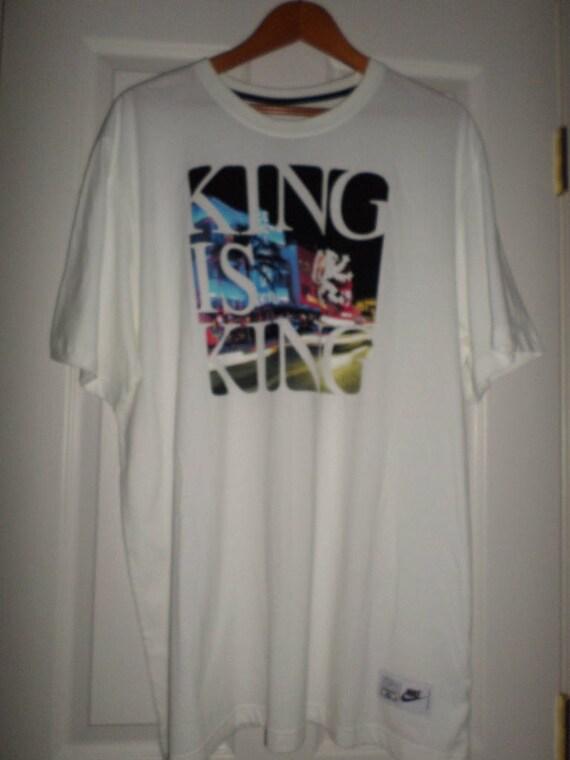 5b74c2256689 Vintage Nike t-Shirt XXL White Graphic Tee LBJ Rapper Hip Hop