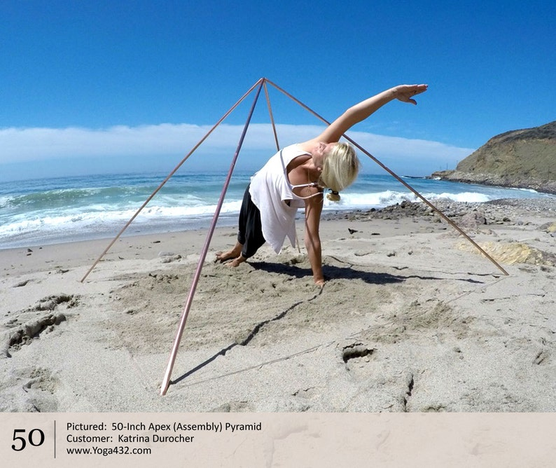 Meditation Pyramids for Kundalini Awakening, Yoga, Self-Growth - 50-Inch  Apex