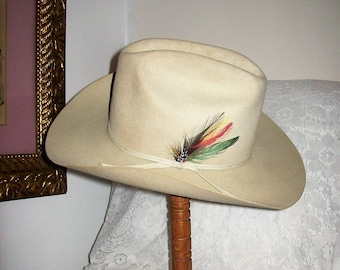 fc2a1d26 Vintage Mens STETSON 4X Silverbelly Rancher Cowboy Hat Size 7 1/8 Only 99  USD