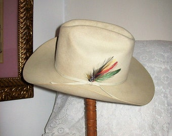 cbbd165b3a8 Vintage Mens STETSON 4X Silverbelly Rancher Cowboy Hat Size 7 1 8 Only 99  USD