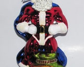 Christopher Radko MIghty Claus Super Santa Polish GLass Ornament Circa 2000