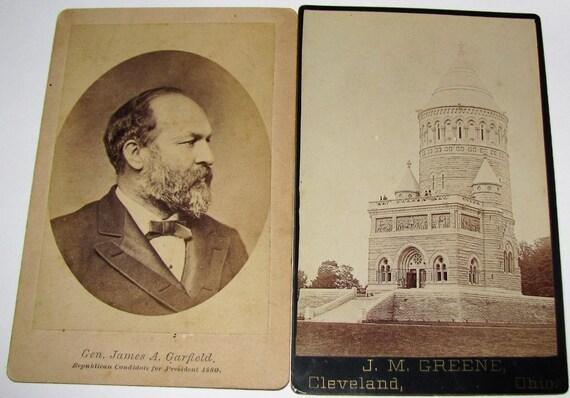 2 CDV Carte De Visite 1880 Gen James Garfield President