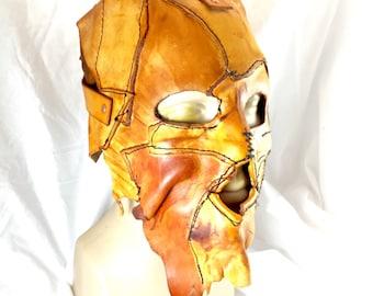 Leather skin full coverage cowhide mask handmade