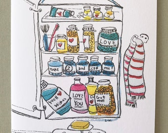 Medicine Cabinet Get Well Card