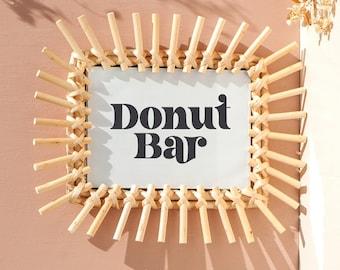 Donut Bar Retro Sign   Wedding, Reception, Baby Shower