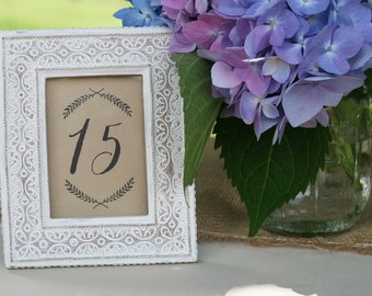 Rustic Printable Wedding Table Numbers 1-30 | Wedding Reception Decor, Table Numbers, Wedding Seating Numbers, Instant Download Printable
