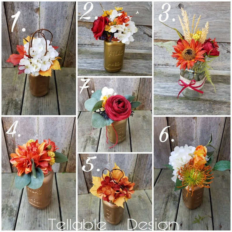 Peachy Fall Wedding Centerpieces Elegant Rustic Autumn Wedding Decor Card Table Cake Table Flowers Custom Designs Available Upon Request Download Free Architecture Designs Photstoregrimeyleaguecom